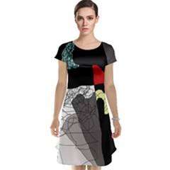 Decorative abstraction Cap Sleeve Nightdress