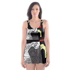Decorative abstraction Skater Dress Swimsuit