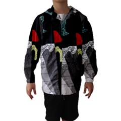 Decorative abstraction Hooded Wind Breaker (Kids)