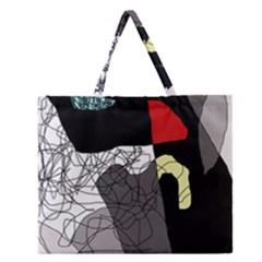 Decorative abstraction Zipper Large Tote Bag