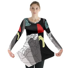 Decorative abstraction Long Sleeve Tunic