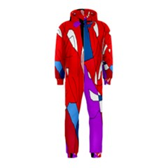 Colorful abstraction Hooded Jumpsuit (Kids)