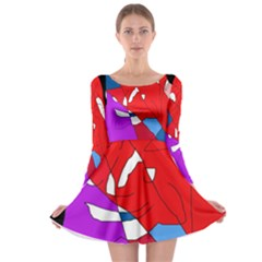 Colorful abstraction Long Sleeve Skater Dress