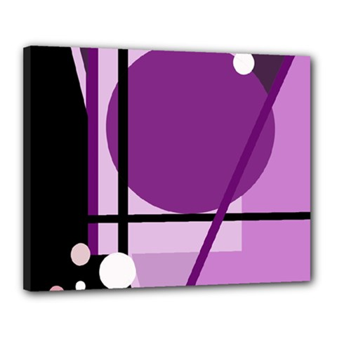 Purple geometrical abstraction Canvas 20  x 16