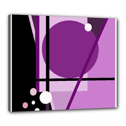 Purple geometrical abstraction Canvas 24  x 20