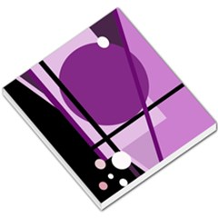 Purple geometrical abstraction Small Memo Pads