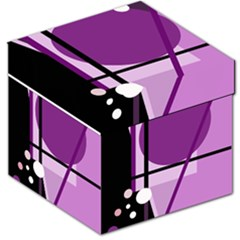 Purple geometrical abstraction Storage Stool 12