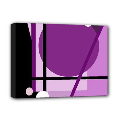 Purple geometrical abstraction Deluxe Canvas 16  x 12