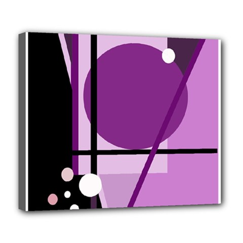 Purple geometrical abstraction Deluxe Canvas 24  x 20