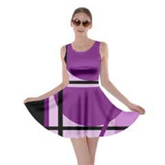 Purple geometrical abstraction Skater Dress