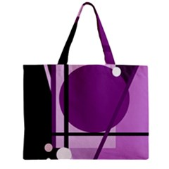 Purple geometrical abstraction Mini Tote Bag