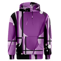 Purple geometrical abstraction Men s Pullover Hoodie