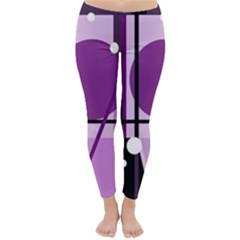 Purple geometrical abstraction Winter Leggings