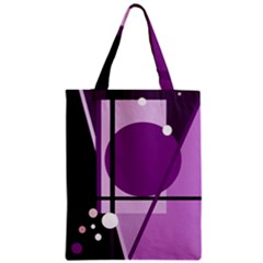Purple geometrical abstraction Zipper Classic Tote Bag