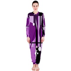 Purple geometrical abstraction OnePiece Jumpsuit (Ladies)