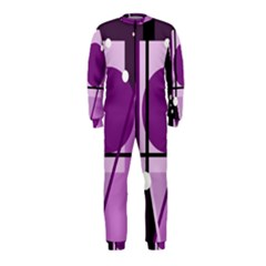 Purple geometrical abstraction OnePiece Jumpsuit (Kids)