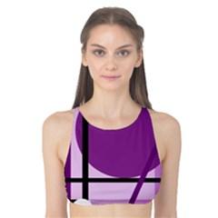 Purple geometrical abstraction Tank Bikini Top
