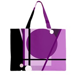 Purple geometrical abstraction Large Tote Bag