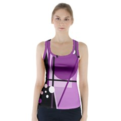 Purple geometrical abstraction Racer Back Sports Top