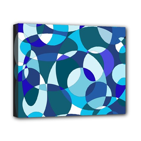 Blue abstraction Canvas 10  x 8