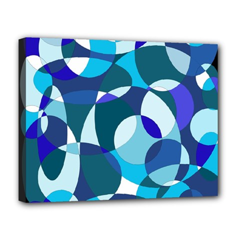 Blue abstraction Canvas 14  x 11