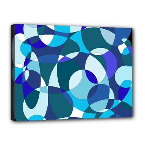 Blue abstraction Canvas 16  x 12