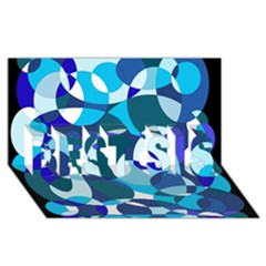 Blue abstraction BEST SIS 3D Greeting Card (8x4)