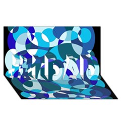 Blue Abstraction #1 Dad 3d Greeting Card (8x4)