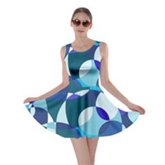 Blue abstraction Skater Dress