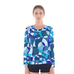 Blue abstraction Women s Long Sleeve Tee