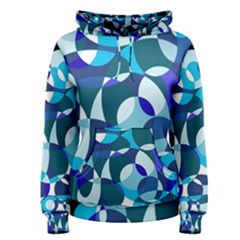 Blue abstraction Women s Pullover Hoodie