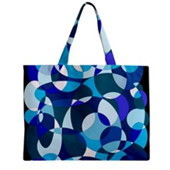 Blue Abstraction Zipper Mini Tote Bag