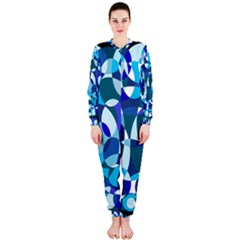 Blue abstraction OnePiece Jumpsuit (Ladies)