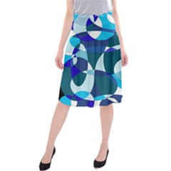 Blue abstraction Midi Beach Skirt