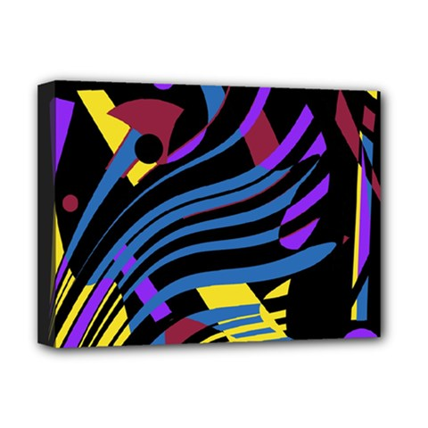 Optimistic abstraction Deluxe Canvas 16  x 12