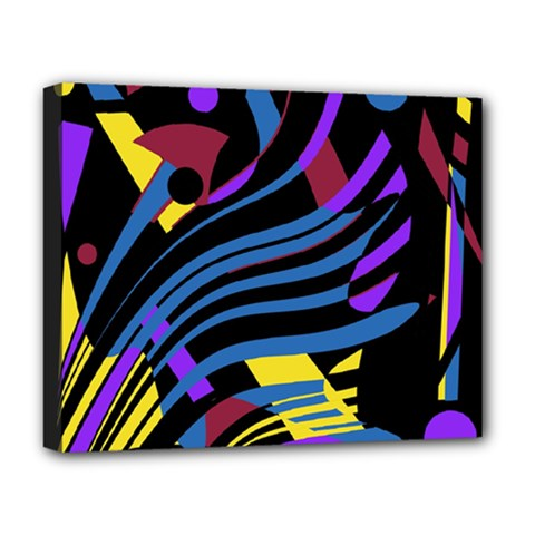 Optimistic abstraction Deluxe Canvas 20  x 16