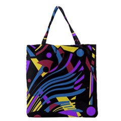 Optimistic Abstraction Grocery Tote Bag