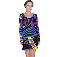 Optimistic abstraction Long Sleeve Nightdress