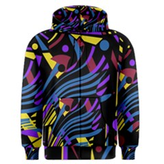 Optimistic abstraction Men s Zipper Hoodie