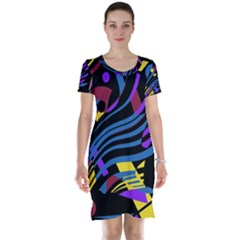 Optimistic abstraction Short Sleeve Nightdress