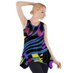 Optimistic Abstraction Side Drop Tank Tunic
