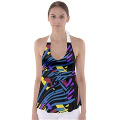 Optimistic abstraction Babydoll Tankini Top
