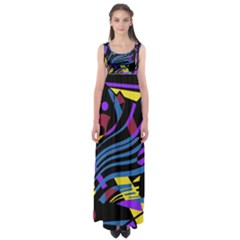 Optimistic abstraction Empire Waist Maxi Dress