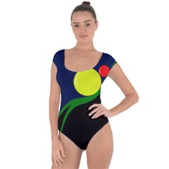 Falling  ball Short Sleeve Leotard