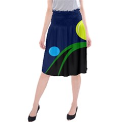 Falling  ball Midi Beach Skirt