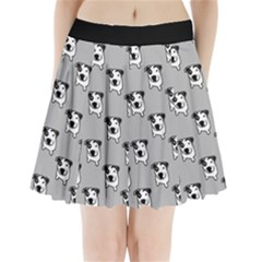 Pit Bull T Bone Graphic  Pleated Mini Mesh Skirt(p209)
