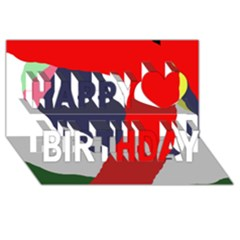 Beautiful abstraction Happy Birthday 3D Greeting Card (8x4)