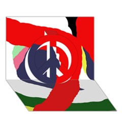 Beautiful abstraction Peace Sign 3D Greeting Card (7x5)