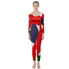 Beautiful abstraction Long Sleeve Catsuit