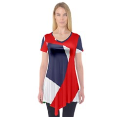 Beautiful abstraction Short Sleeve Tunic